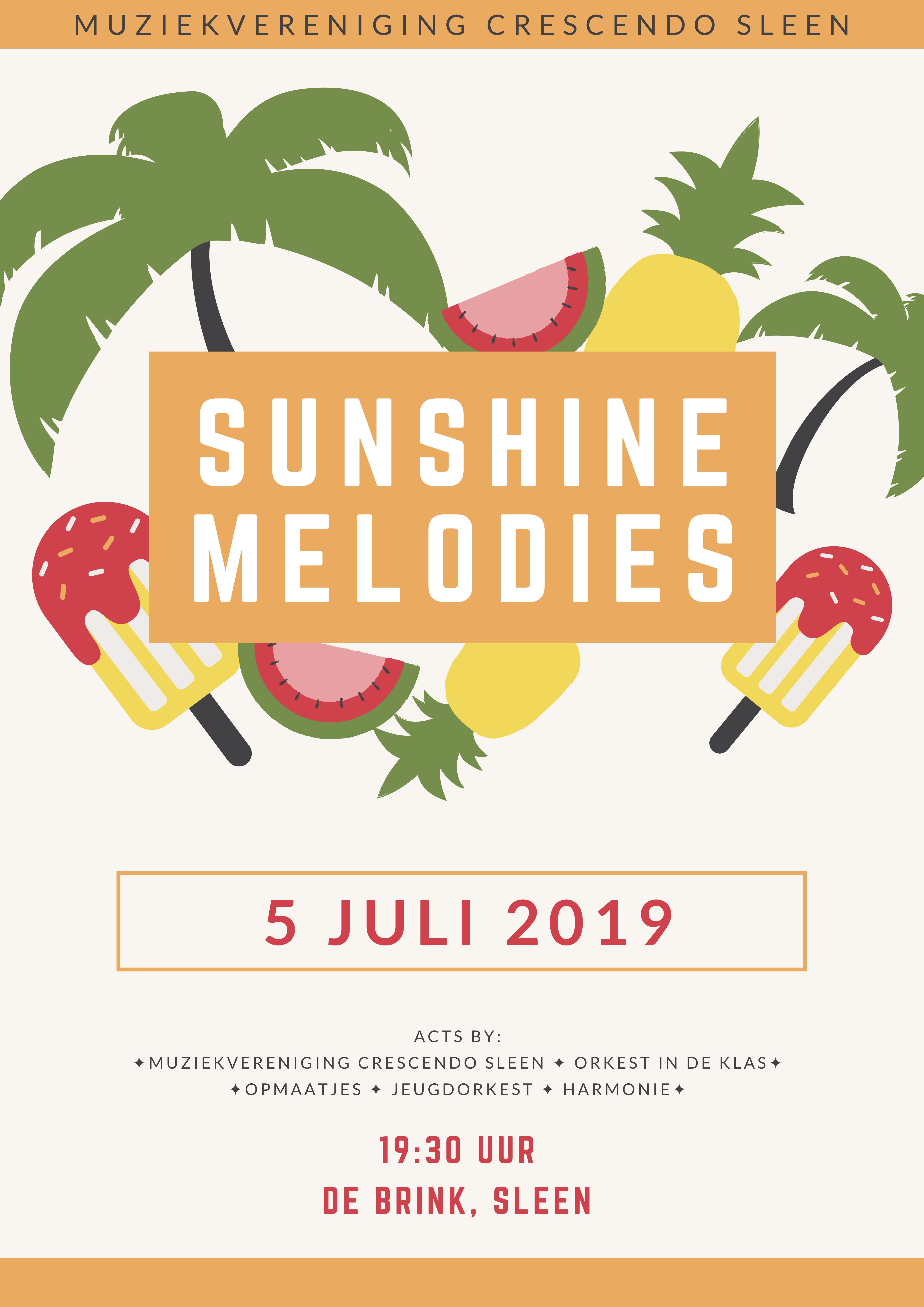 Sunshine melodies poster