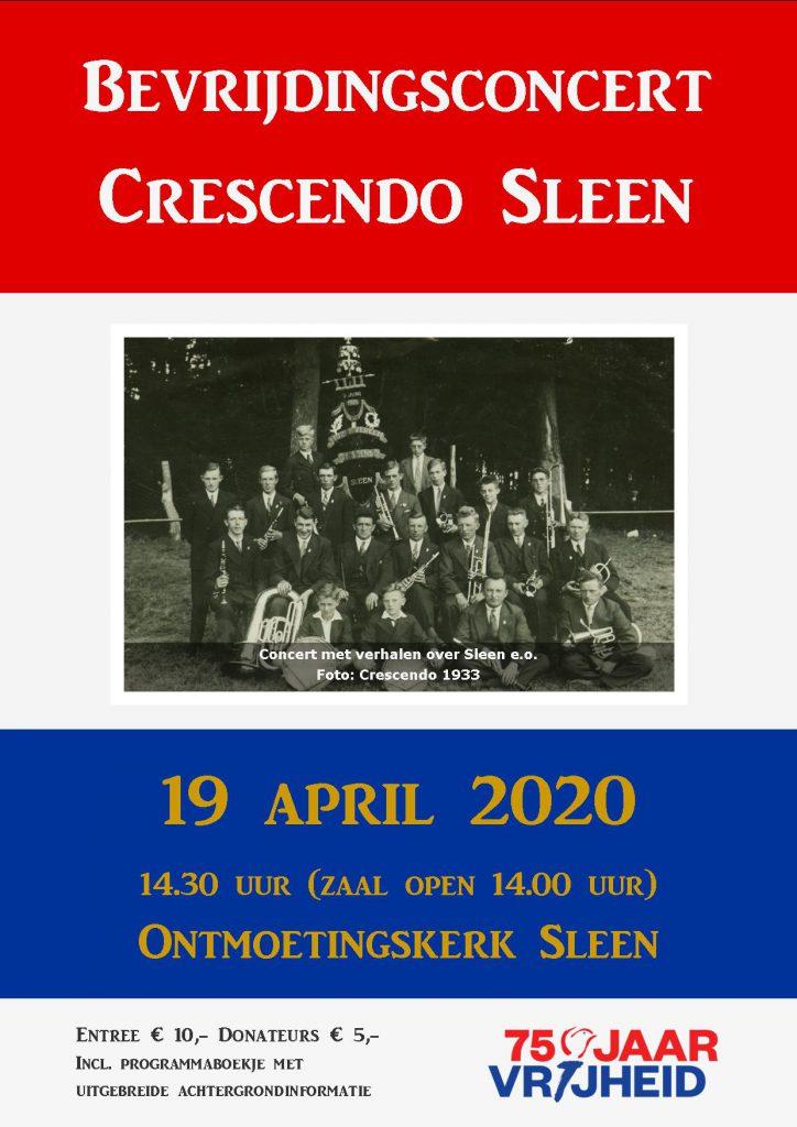 Poster bevrijdingsconcert 19 april 2020