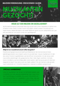Promotie flyer Crescendo definitief voorkant duidelijker